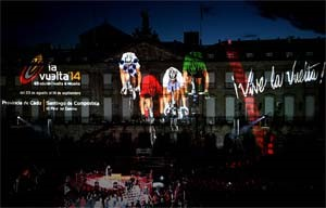 SPAIN – Spectacular audiovisual show for the last stage of the Vuelta a Espana