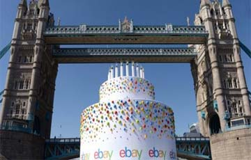 UK – Ebay celebrates 20th birthday with Thames cake PR stunt