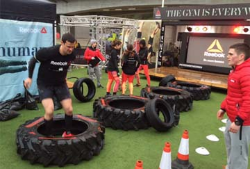 UK – Reebok launches pop-up outdoor gym in London