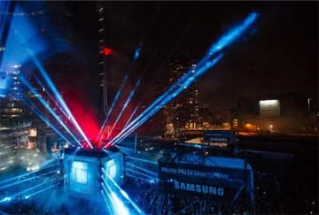 ITALY – Samsung Galaxy S7: Milan with its eyes looking skyward for the first city laser show by Eventually