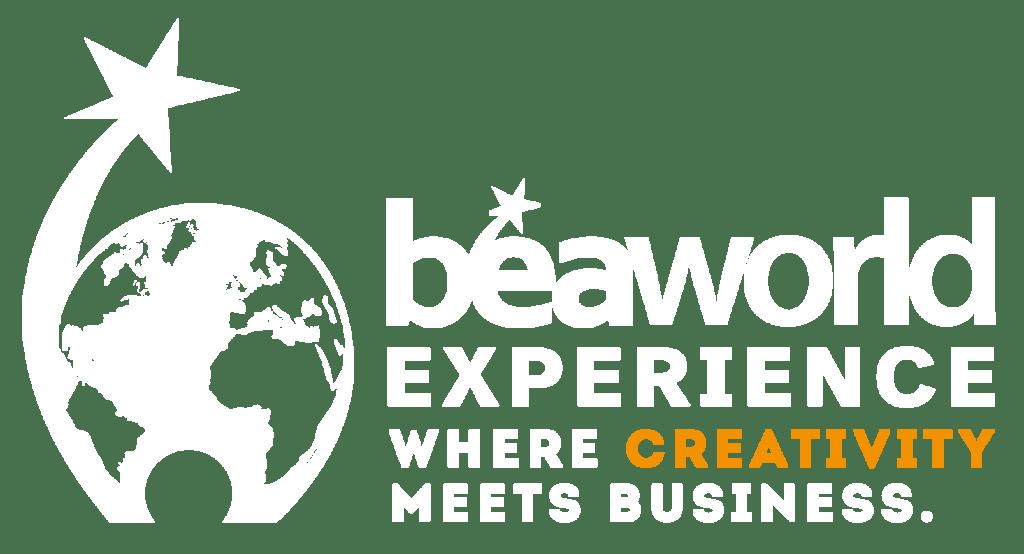 logo beaworld experience or neg