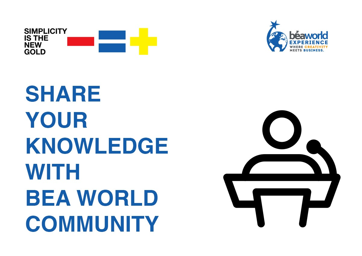 Share your knowledge with the BEA World community